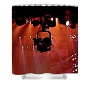 New Photographic Art Print For Sale Lights Camera Action Backstage At The American Music Award Shower Curtain