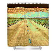 New Photographic Art Print For Sale Long Road To The Valley Of Fire Shower Curtain