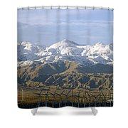 New Photographic Art Print For Sale Palm Springs Wind Farm Landscape Shower Curtain
