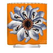 New Photographic Art Print For Sale Pop Art Swan Flower On Orange Shower Curtain