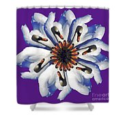 New Photographic Art Print For Sale Pop Art Swan Flower On Purple Shower Curtain