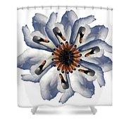 New Photographic Art Print For Sale Pop Art Swan Flower On White Shower Curtain