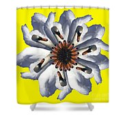 New Photographic Art Print For Sale Pop Art Swan Flower On Yellow Shower Curtain