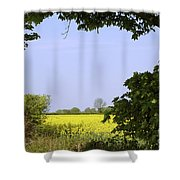 New Photographic Art Print For Sale Yellow English Fields 3 Shower Curtain