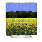 New Photographic Art Print For Sale Yellow English Fields Shower Curtain