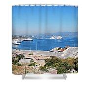 New Port Corfu Shower Curtain