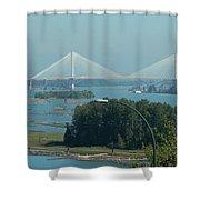 New Port Mann Bridge  Shower Curtain