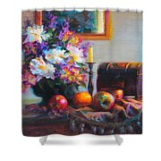 New Reflections Shower Curtain by Talya Johnson