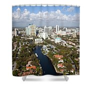 New River And Downtown Fort Lauderdale Shower Curtain