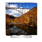 New River Gorge Bridge In Autumn Shower Curtain