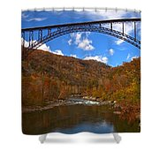 New River Gorge Fiery Fall Colors Shower Curtain