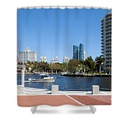 New River In Fort Lauderdale Shower Curtain