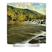 New River Landscape Shower Curtain