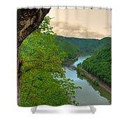 New River Railroad Bridge At Hawk's Nest  Shower Curtain