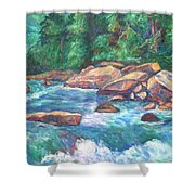 New River Fast Water Shower Curtain