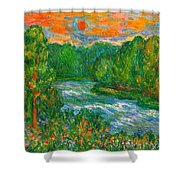 New River Rush Shower Curtain