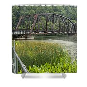 New River Scene 14 B Shower Curtain