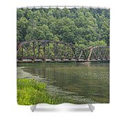 New River Scene 15 B Shower Curtain