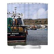 New Seeker - Lyme Regis Shower Curtain