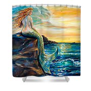 New Smyrna Inlet Shower Curtain by Linda Olsen