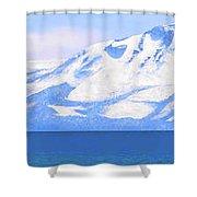 New Snow Lake Tahoe Shower Curtain