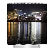 New Husky Stadium Reflection Shower Curtain