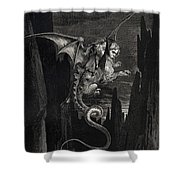 New Terror I Conceived From Dantes Inferno Shower Curtain
