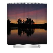 Summer Sunset In Nh Shower Curtain
