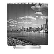 New World Trade Center Bw Shower Curtain