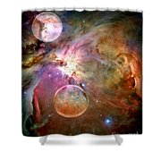 New Worlds Shower Curtain