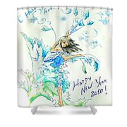 New Year 2010 Shower Curtain