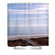 New Year Carolina Beach Shower Curtain