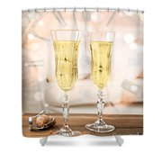 New Year Celebration Shower Curtain