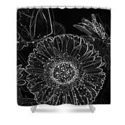 New Years Eve Flower Shower Curtain