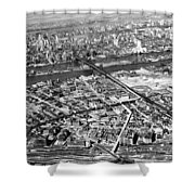 New York 1937 Aerial View  Shower Curtain
