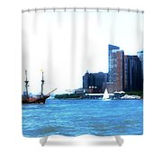 New York 4 Shower Curtain
