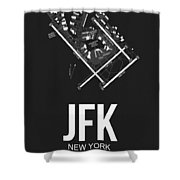 New York Airport Poster 1 Shower Curtain