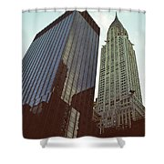 New York Architecture Old And New Shower Curtain