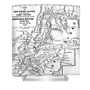 New York: Armies, 1776 Shower Curtain