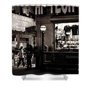 Nighthawks Of New York - Subway Shower Curtain