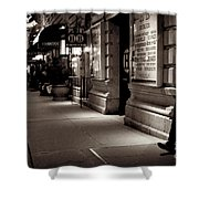 New York At Night - The Phone Call - Theatre District Shower Curtain