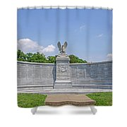 New York Auxiliary State Monument Shower Curtain