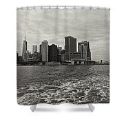 New York Battery Park View Shower Curtain