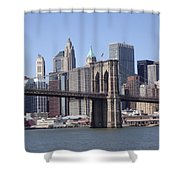 New York Bridge 3 Shower Curtain