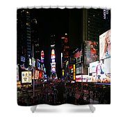 New York - Broadway And Times Square Shower Curtain