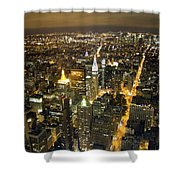 New York By Night Shower Curtain