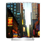New York By Twilight Shower Curtain