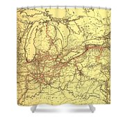 New York Central And Hudson River Railroad 1900 Shower Curtain