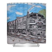 New York Central Train Shower Curtain