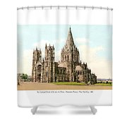 New York City - The Cathedral Church Of St John The Divine - 1915 Shower Curtain